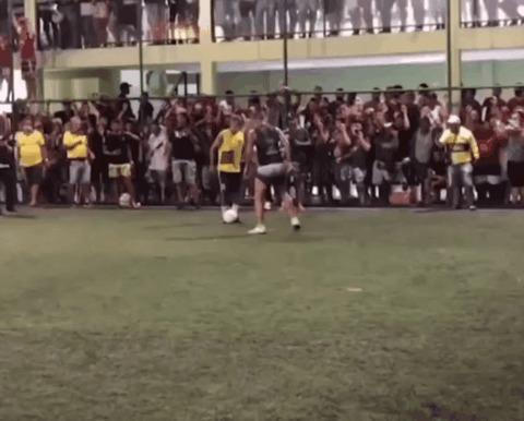 Высокий пинг Спорт, Футбол, Мини-Футбол, Перекладина, Реакция, Гифка