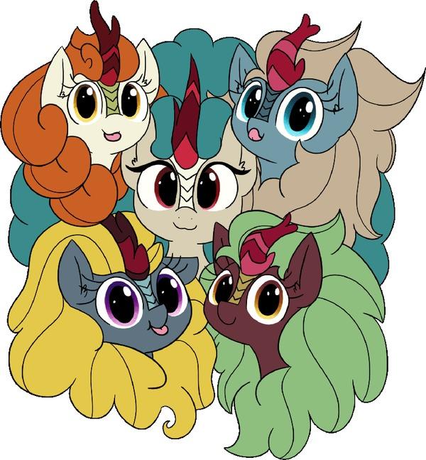Mlem My Little Pony, MLP Kirin, Autumn Blaze, Rain Shine, Cinder Glow, Mlem, Гифка, Sparkling Brook, Winter Flame
