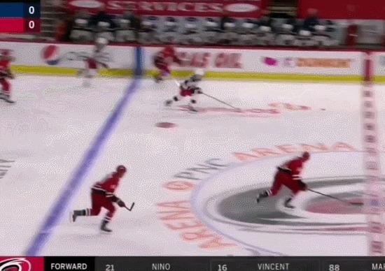 Джек Рослович и его не финт, а финтище! Спорт, Хоккей, НХЛ, Финт, Гол, Гифка