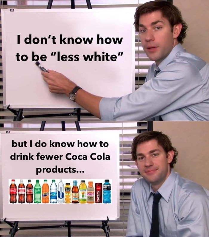 На каждое действие следует противодействие Coca-Cola, Расизм, Кампания, Глупость, Сериал офис