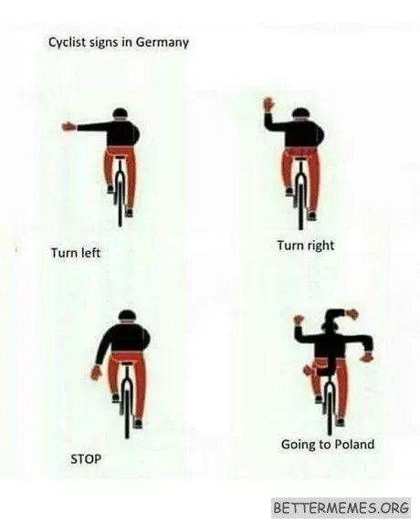 ПДД для велосипедистов из Германии