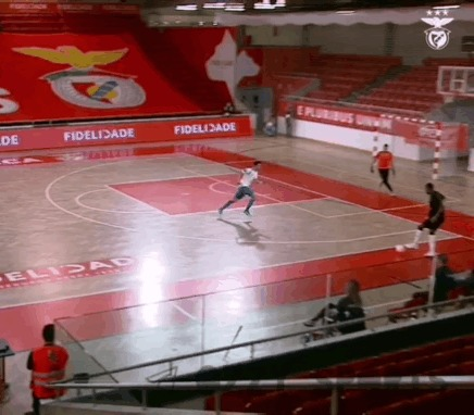Шикарный гол из Португалии Спорт, Футбол, Мини-Футбол, Финт, Гол, Гифка