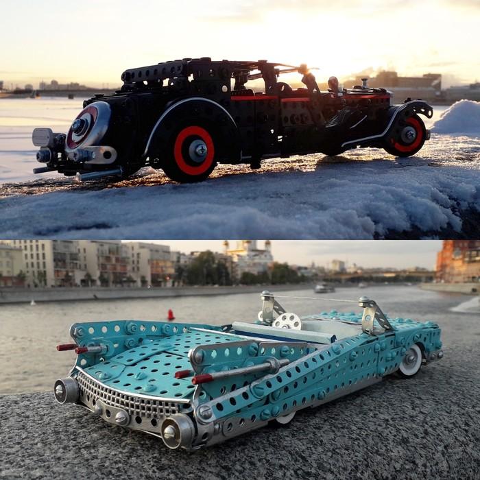 1932 Bucciali Tav, 1959 Cadillac Eldorado из металлического конструктора, проволоки, резины, кожи и картона