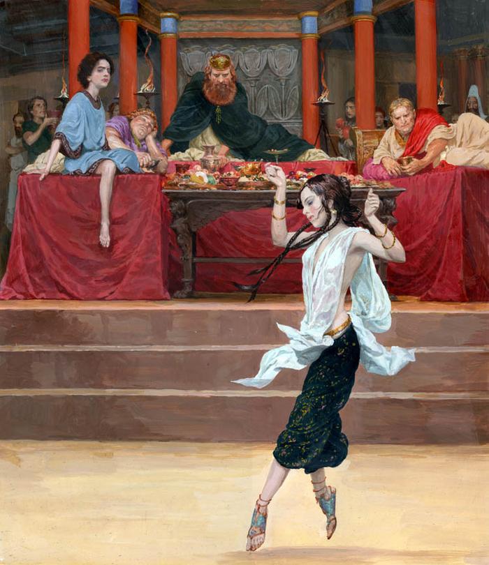 Пир царя Ирода (художник Денис Гордеев)