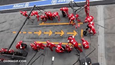 Начало сезона 2021 - запасаемся попкорном! Формула 1, Открытие сезона, Микробы, Еда, Скорость, Пит-Стоп, Гифка