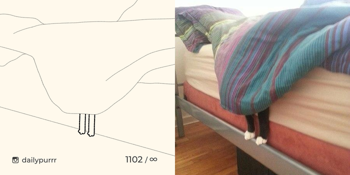 Где-то на этом рисунке спрятан кот! Сколько времени вам понадобится, чтобы найти его?
