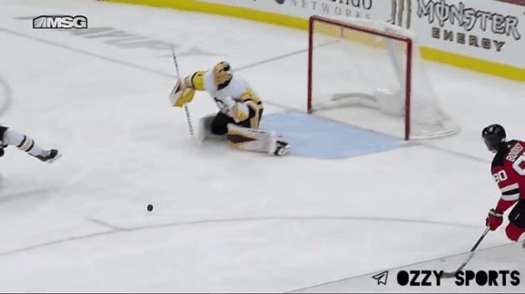 """Кейси ДеСмит в режиме """"Ты не пройдёшь!"""" Спорт, Хоккей, НХЛ, Вратарь, Сейв, Гифка"""