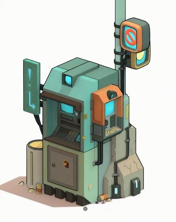 Попытки в 3D Blender, 3D, 3D моделирование, Футурама, Гифка