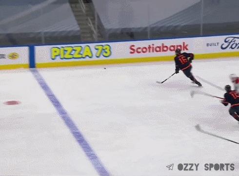 Сокрушительный силовой приём от Александра Романова Спорт, Хоккей, НХЛ, Силовой прием, Гифка