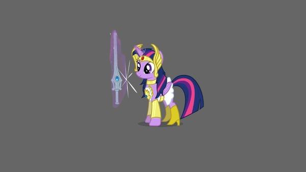 Упражняясь с мечом, убедитесь, что рядом никого нет My Little Pony, Twilight Sparkle, Derpy Hooves, Меч, Гифка, She-Ra, MLP Crossover, Khuzang
