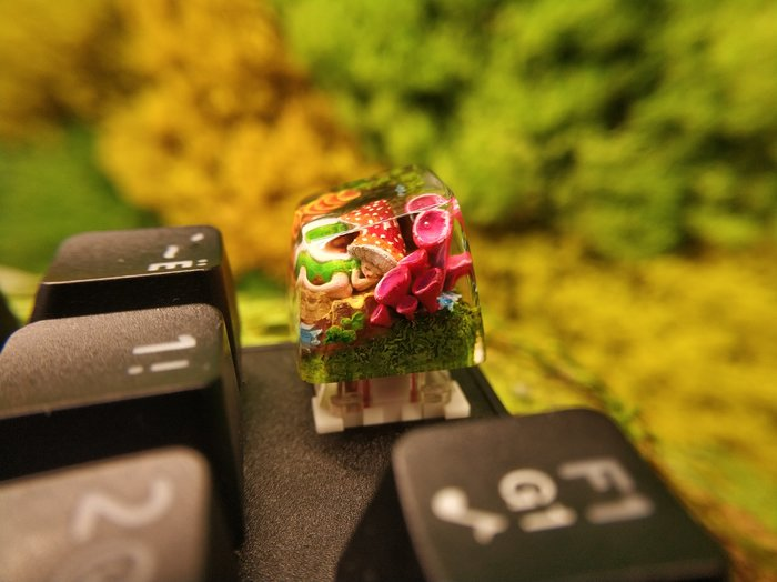 """""""Сон феи"""" в SA профиле, клавиша для клавиатуры Клавиатура, Своими руками, Эпоксидная смола, Геймеры, Компьютер, Рукоделие без процесса, Рукоделие, Макросъемка, Современное искусство, Длиннопост"""