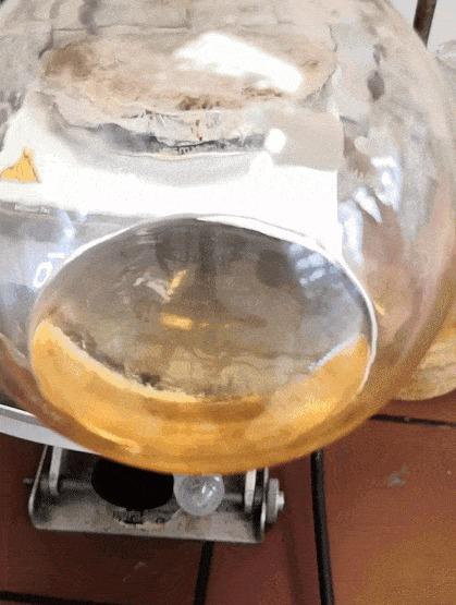 Выпаривание растворителя из вязкойфосфорорганической кислоты