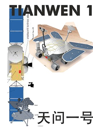 Инфографика: Китайская марсианская миссия Тianwen-1 Космос, Инфографика, Гифка, Длиннопост