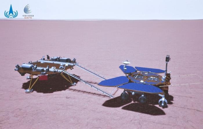 Первый китайский марсоход quotЧжужунquot приступил к исследованию Красной планеты