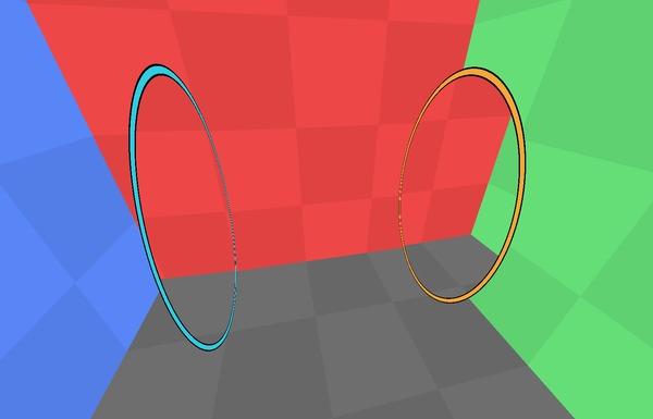 Парадокс портала в портале: решение и объяснение Portal, Portal 2, Компьютерная графика, Вынос мозга, Гифка, Видео, Длиннопост