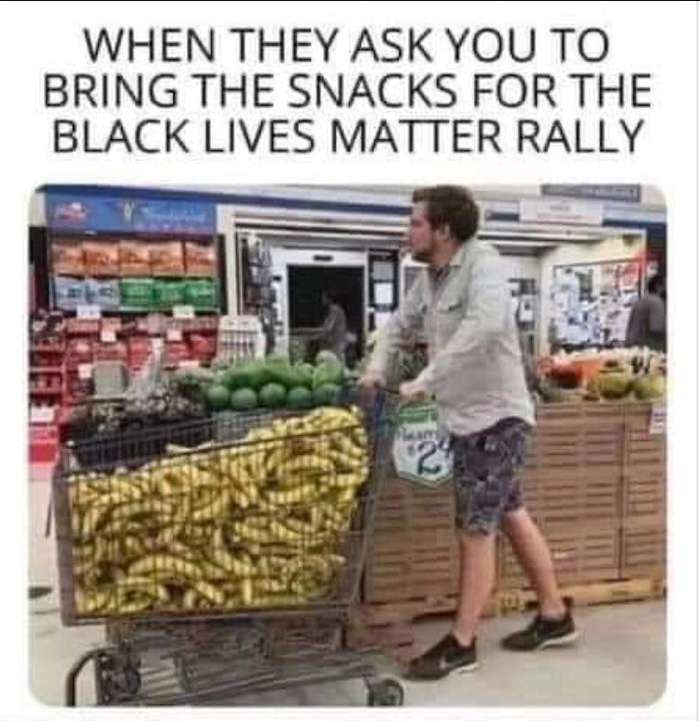 Когда тебя попросили принести еду на протесты BLM