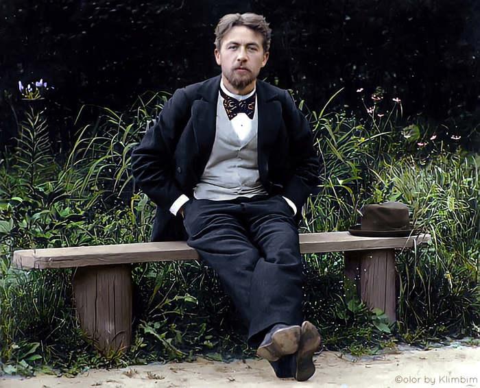 Любительское фото Чехова, кажущееся современным (фотографП. И. Серегин, 1897)