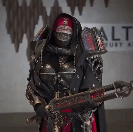 Inquisitor Oriza cosplay Warhammer 40k, Косплей, Инквизиция, Гифка, Длиннопост