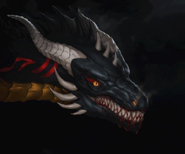 Драконы XennaDemonorph Дракон, Мифические существа, Фэнтези, Гифка, Длиннопост