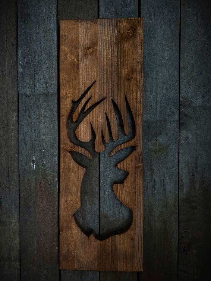 Олень, панно на стену Своими руками, Столярка, Дизайн, Картина, Самоделки, Видео, Длиннопост