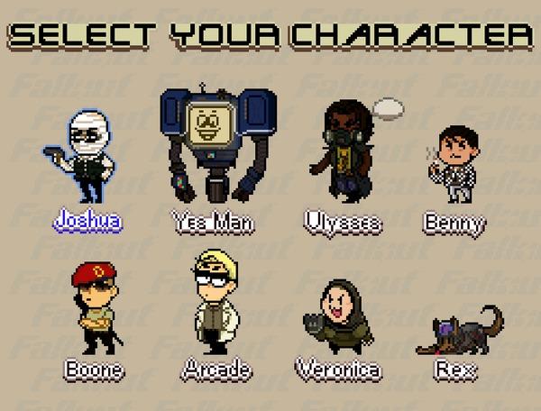 """fallout new vegas character select"" byMac N Fallout: New Vegas, Игры, Pixel Art, Гифка, Fallout, Game Art"