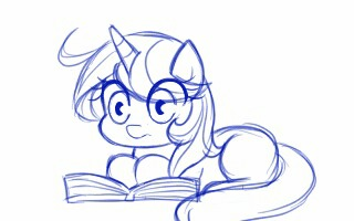 Листает My Little Pony, Original Character, Гифка