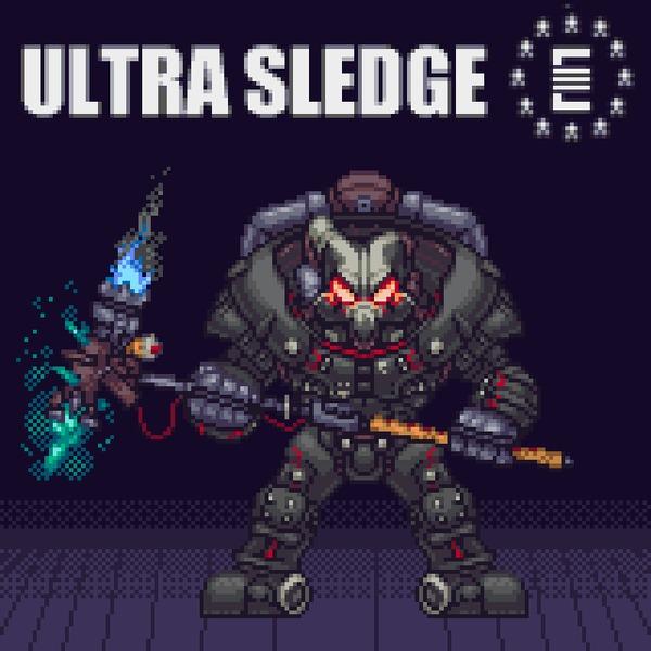Liberty Prime &Ultra Sledge by Higata Urase Liberty Prime, Enclave, Fallout, Pixel Art, Game Art, Игры, Силовая броня, Гифка