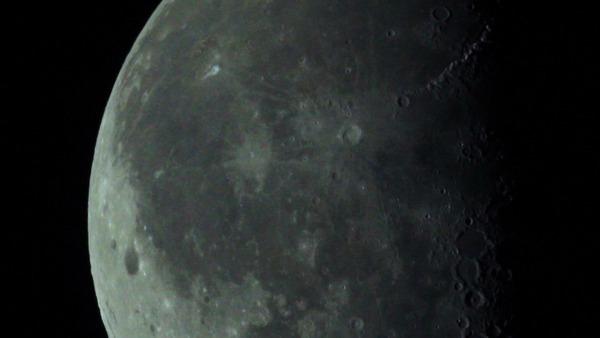 Наконец-то я снял МКС на фоне Луны Космос, Космонавтика, МКС, Луна, Астрономия, Астрофото, Гифка, Длиннопост
