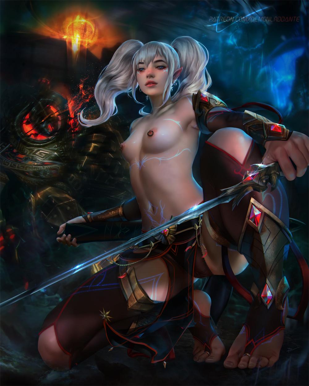 Elder Scrolls elf girl